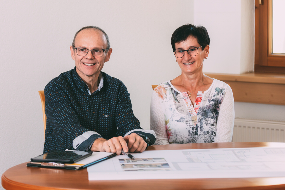 Johann mit Frau Magdalena, Tischlerei Heel Johann ©Salvemini